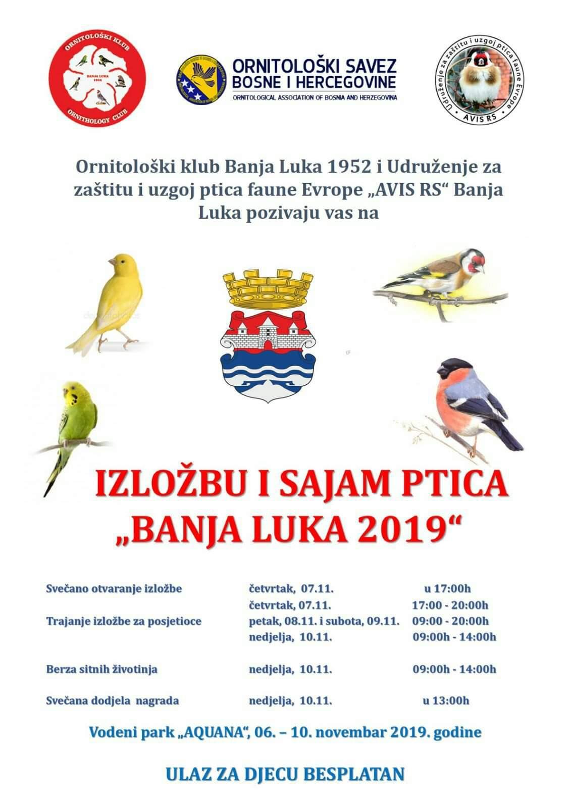 Ornitološka Izložba Banja Luka 2019