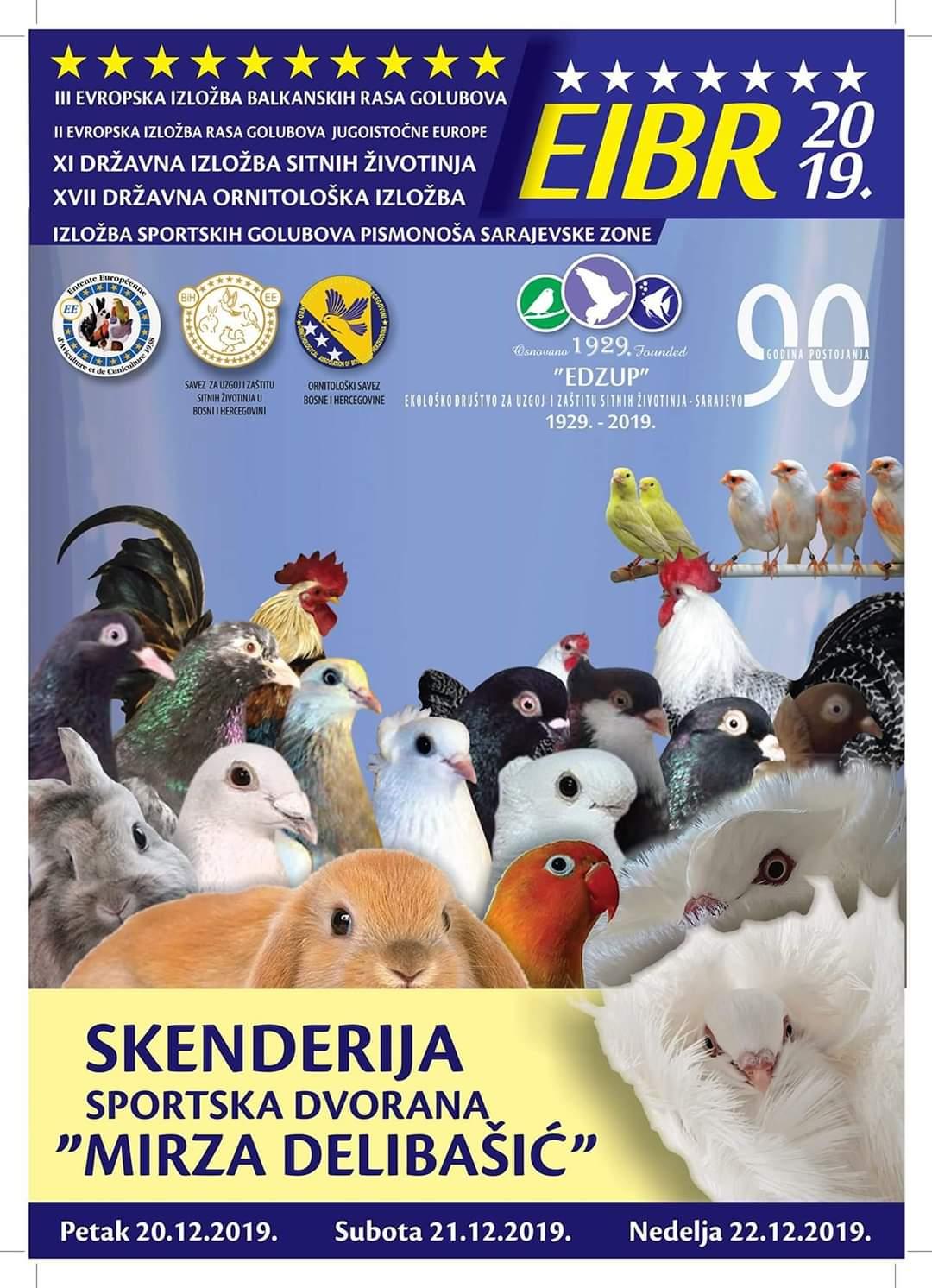 Državna Ornitološka Izložba Bosne I Hercegovine 2019.